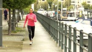 Löpning och gång med Blossom